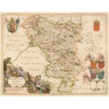 Derbyshire. Blaeu (Johannes), Darbiensis Comitatus vernacule Darbie Shire, Amsterdam, 1646