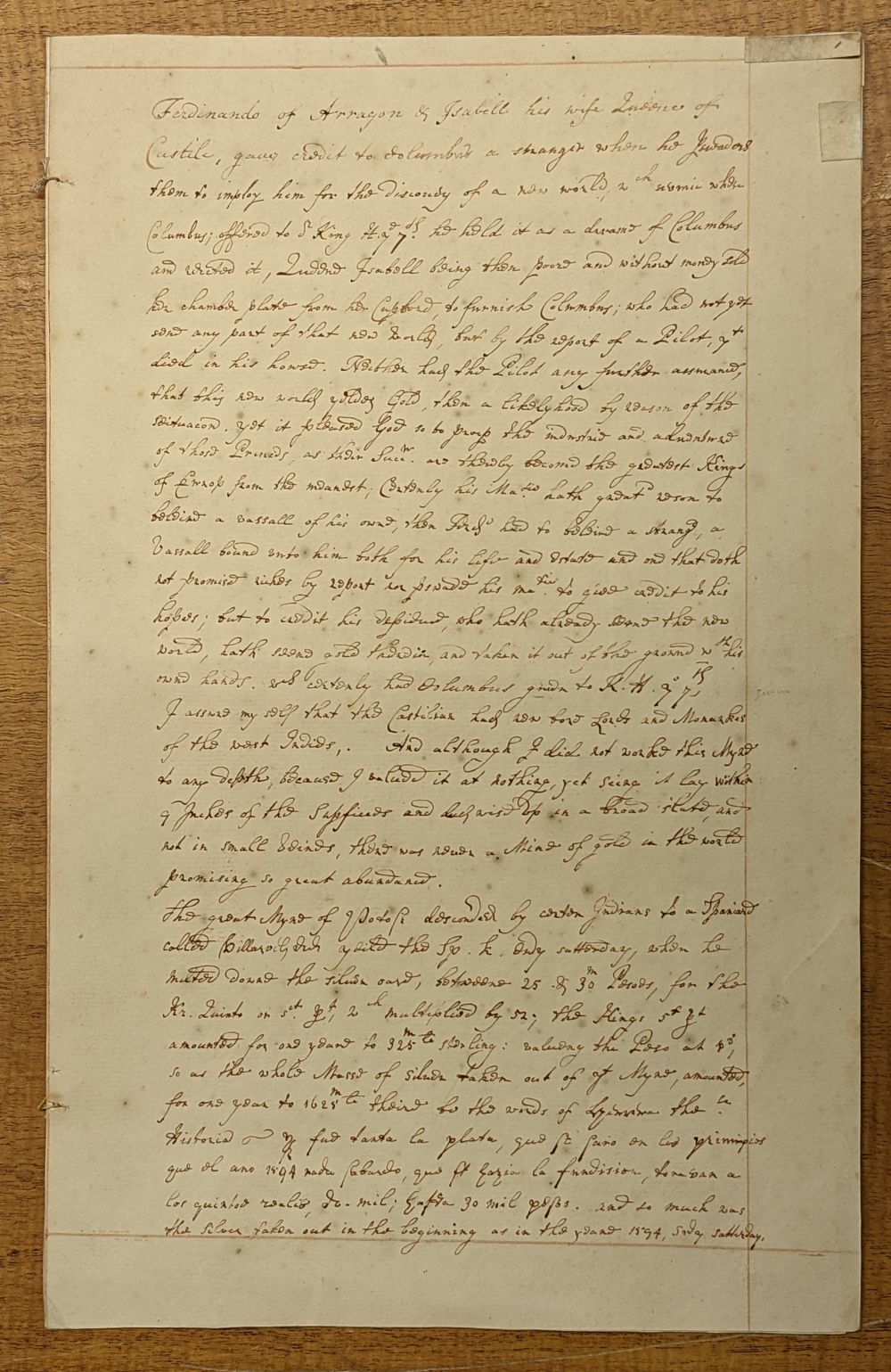 * West Indies. Manuscript application for funds and assistance... , mid 18th century - Image 2 of 6