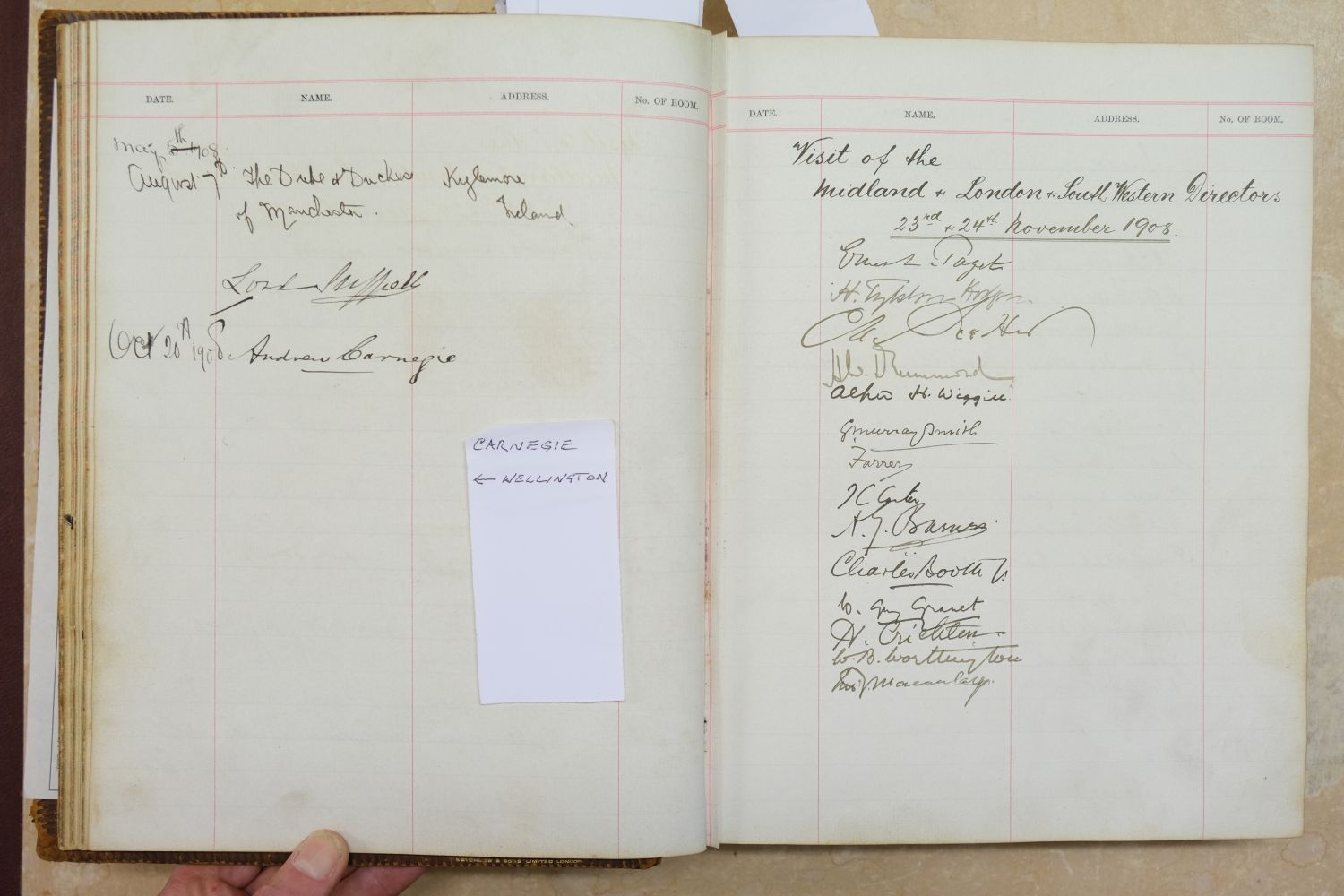 Visitors' Book. South Western Hotel, Southampton. A visitors' book, circa 1899-1912 - Image 15 of 16