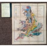 England & Wales. Geological Map of England and Wales (with all the Railways), 1864
