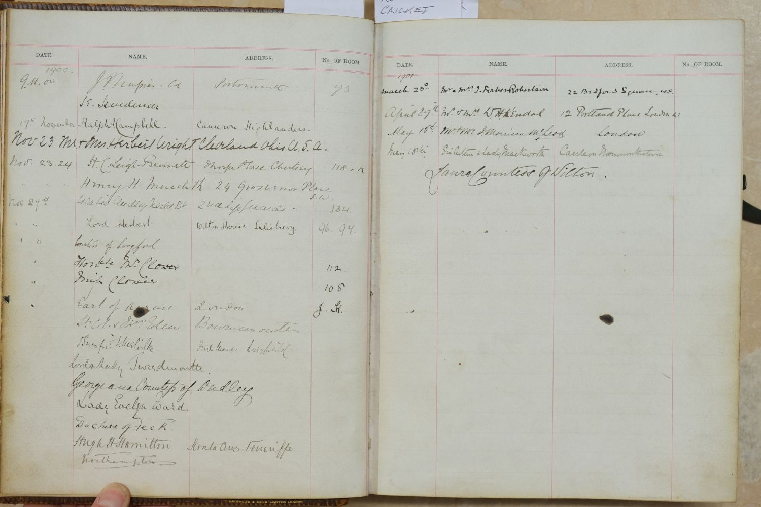 Visitors' Book. South Western Hotel, Southampton. A visitors' book, circa 1899-1912 - Image 7 of 16