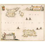 Channel Islands. Blaeu (J.), Sarnia Insula vulgo Guernsey et Insula Caesarea..., 1648
