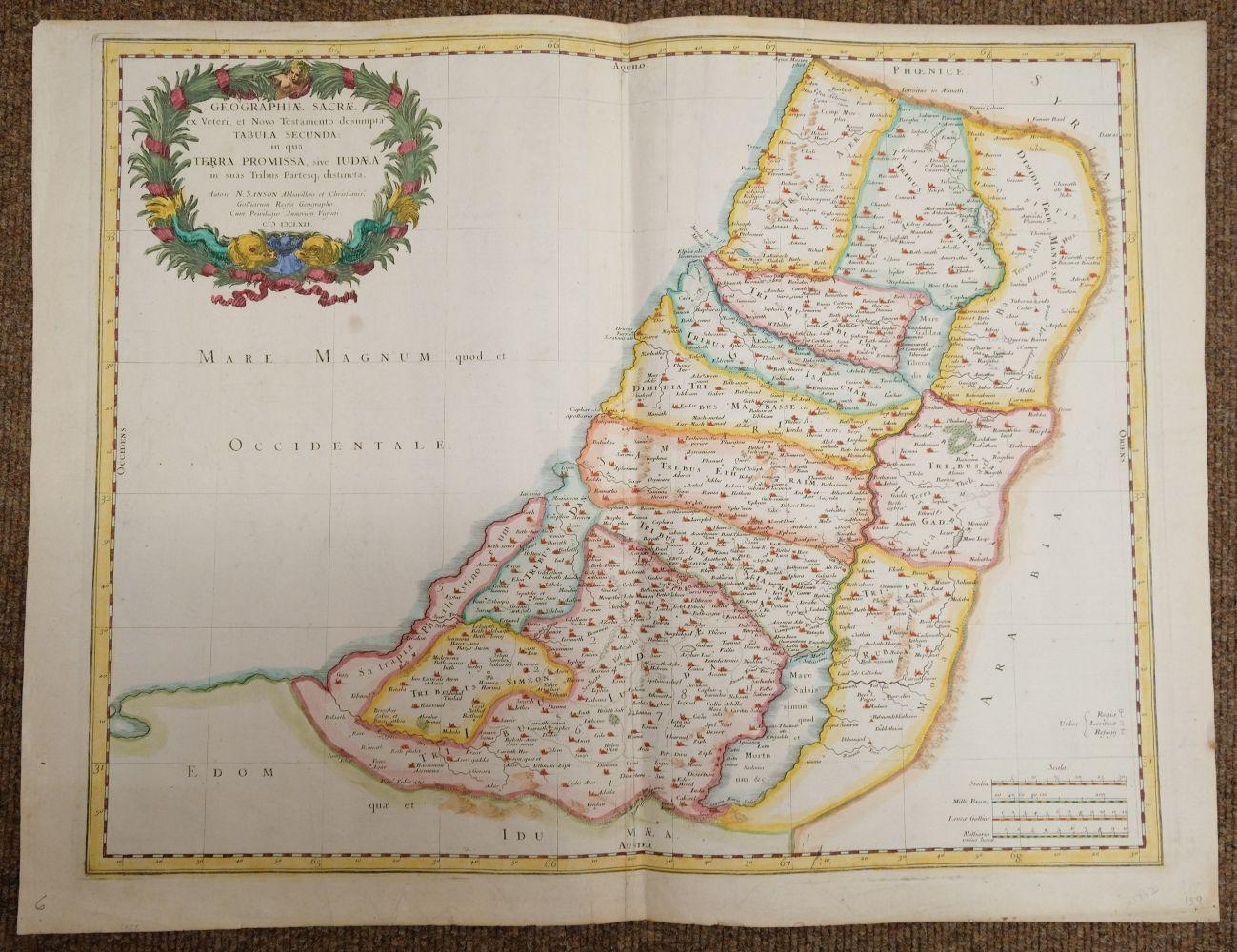 Holy Land. Ottens (R. & J.), Het Beloofde Landt Israels. Terra Sancta..., Amsterdam, circa 1765 - Image 3 of 10