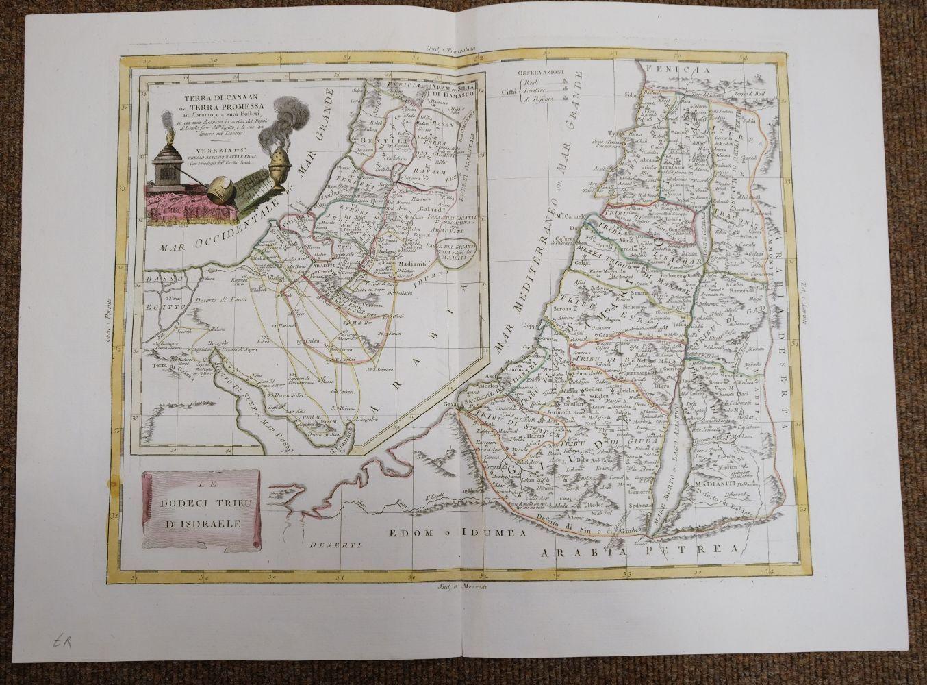 Holy Land. Ottens (R. & J.), Het Beloofde Landt Israels. Terra Sancta..., Amsterdam, circa 1765 - Image 7 of 10