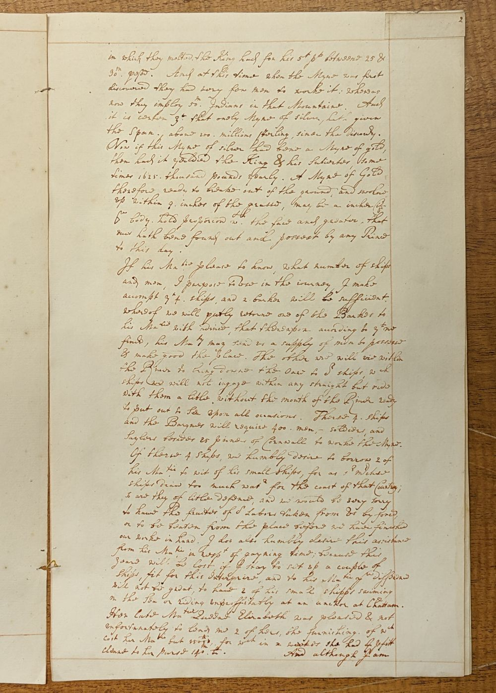 * West Indies. Manuscript application for funds and assistance... , mid 18th century - Image 3 of 6