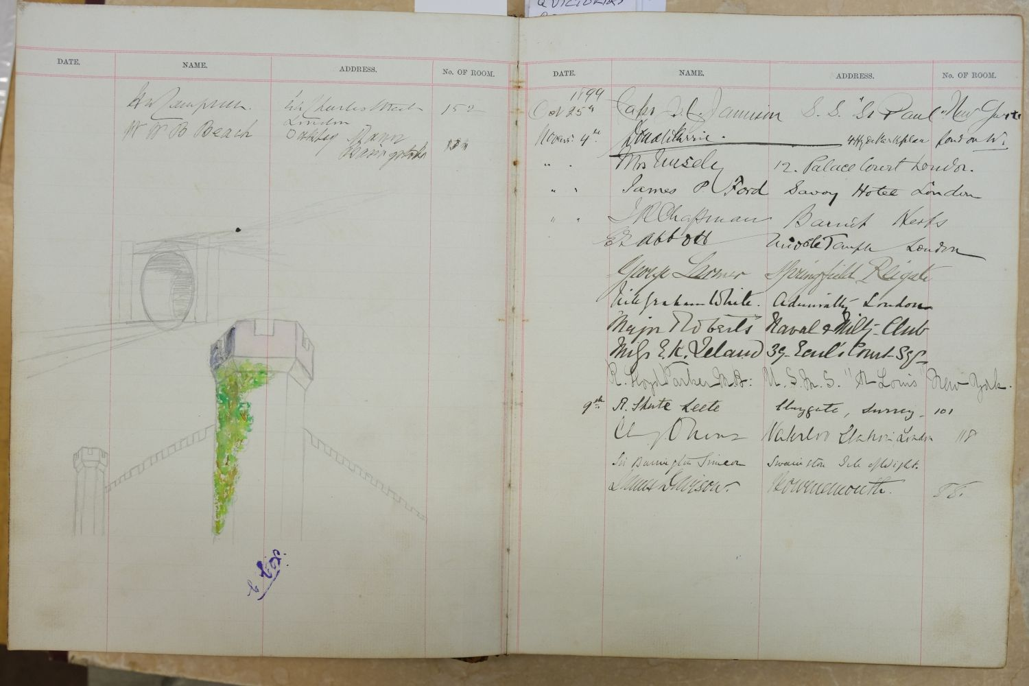 Visitors' Book. South Western Hotel, Southampton. A visitors' book, circa 1899-1912 - Image 2 of 16