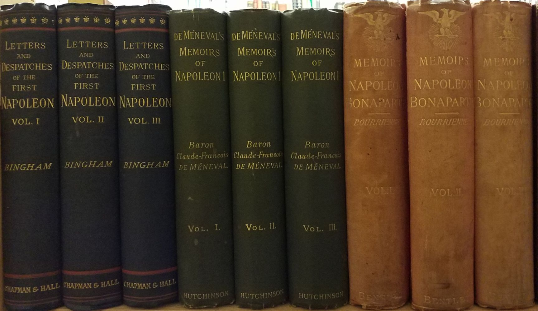 Bingham (Denis A.). A Selection from the letters and despatches of the First Napoleon, 3 vols., - Image 2 of 3