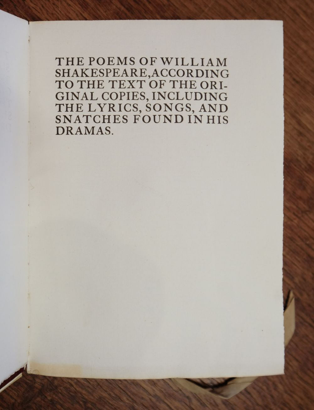 Essex House Press. The Poems of William Shakespeare, 1899 - Image 5 of 7