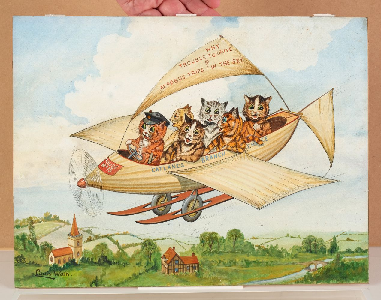 * Wain (Louis, 1860-1939). Flying Cats - Image 3 of 4