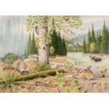 * Barrett (Peter, 1935). North American Mountain Landscape