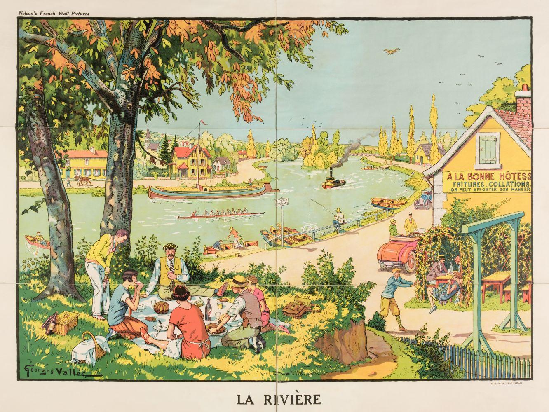 * Vallée (Georges, active 1897-1921). La Rivière