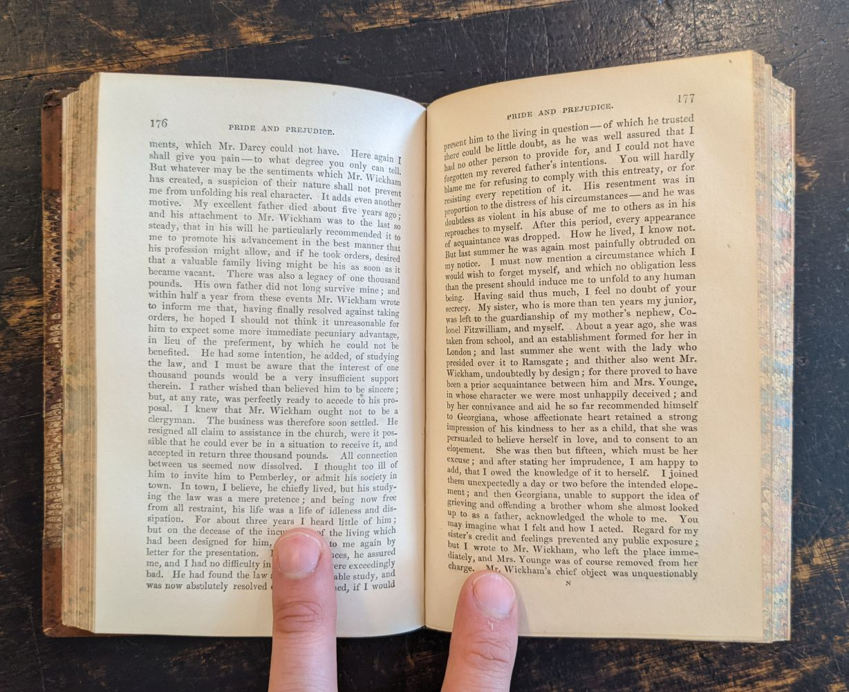 Austen (Jane). Pride and Prejudice. A Novel, London: Richard Bentley, 1846 - Image 7 of 8
