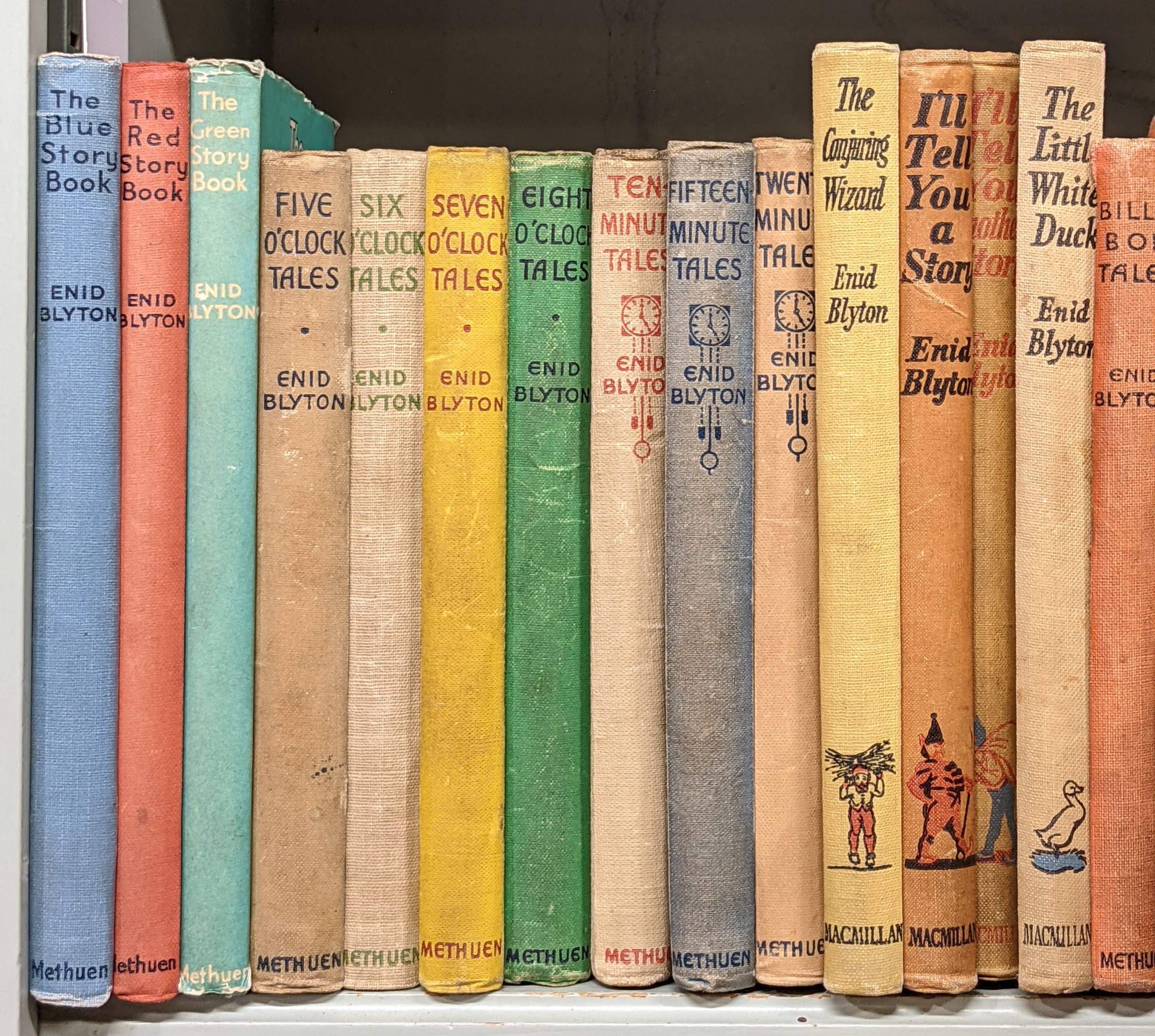 Blyton (Enid). The Blue, Red & Green Story Books, 1st editions, inscribed by the author, and others