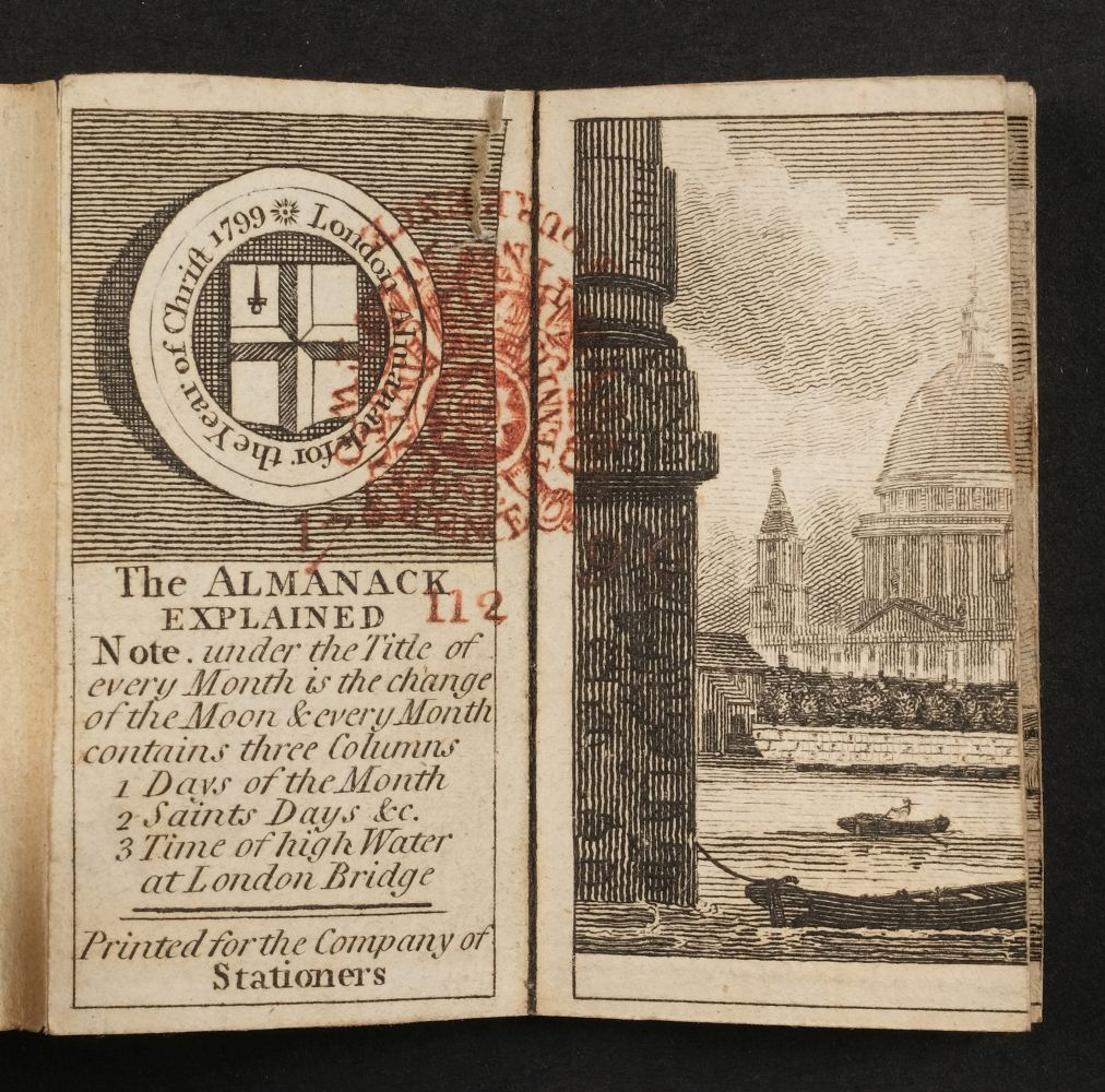 Miniature. London Almanack for the Year of Christ 1799 - Image 3 of 4