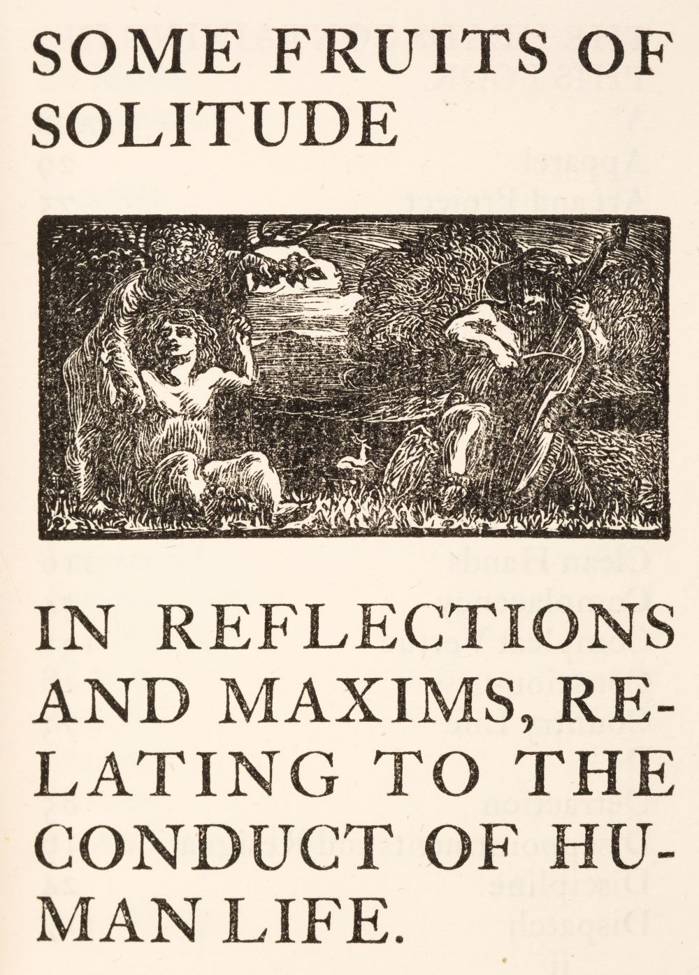 Essex House Press. Some Fruits of Solitude in Reflections and Maxims, 1901 - Image 2 of 2