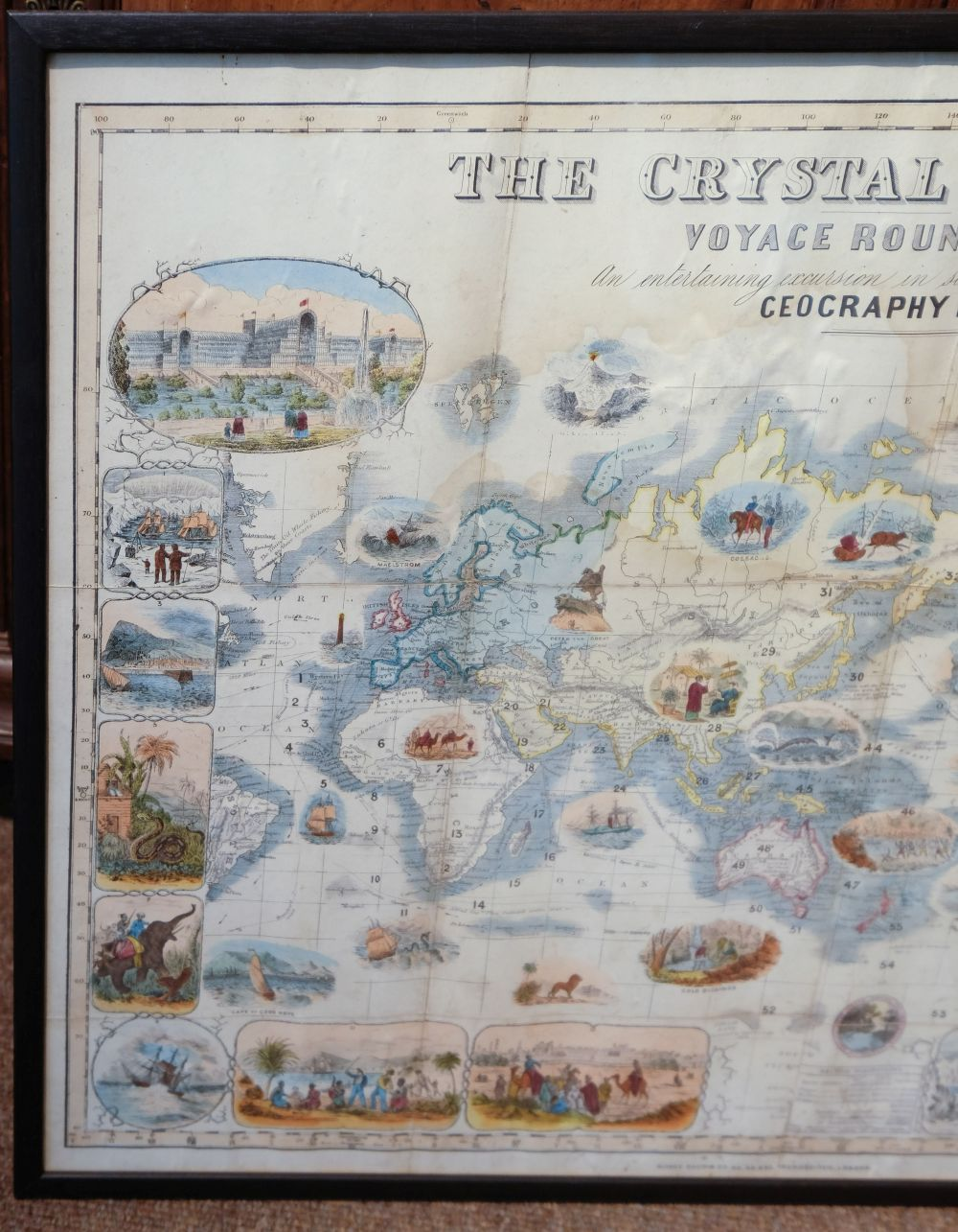 * World Map Board Game. The Crystal Palace Game, published by Alfred Davis & Co., [1855?] - Image 3 of 5