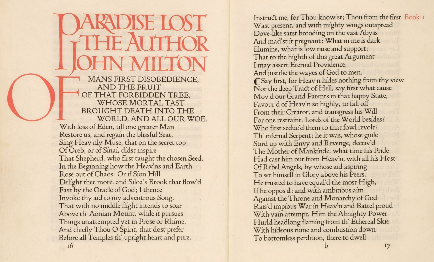 Doves Press. Paradise Lost, 1902