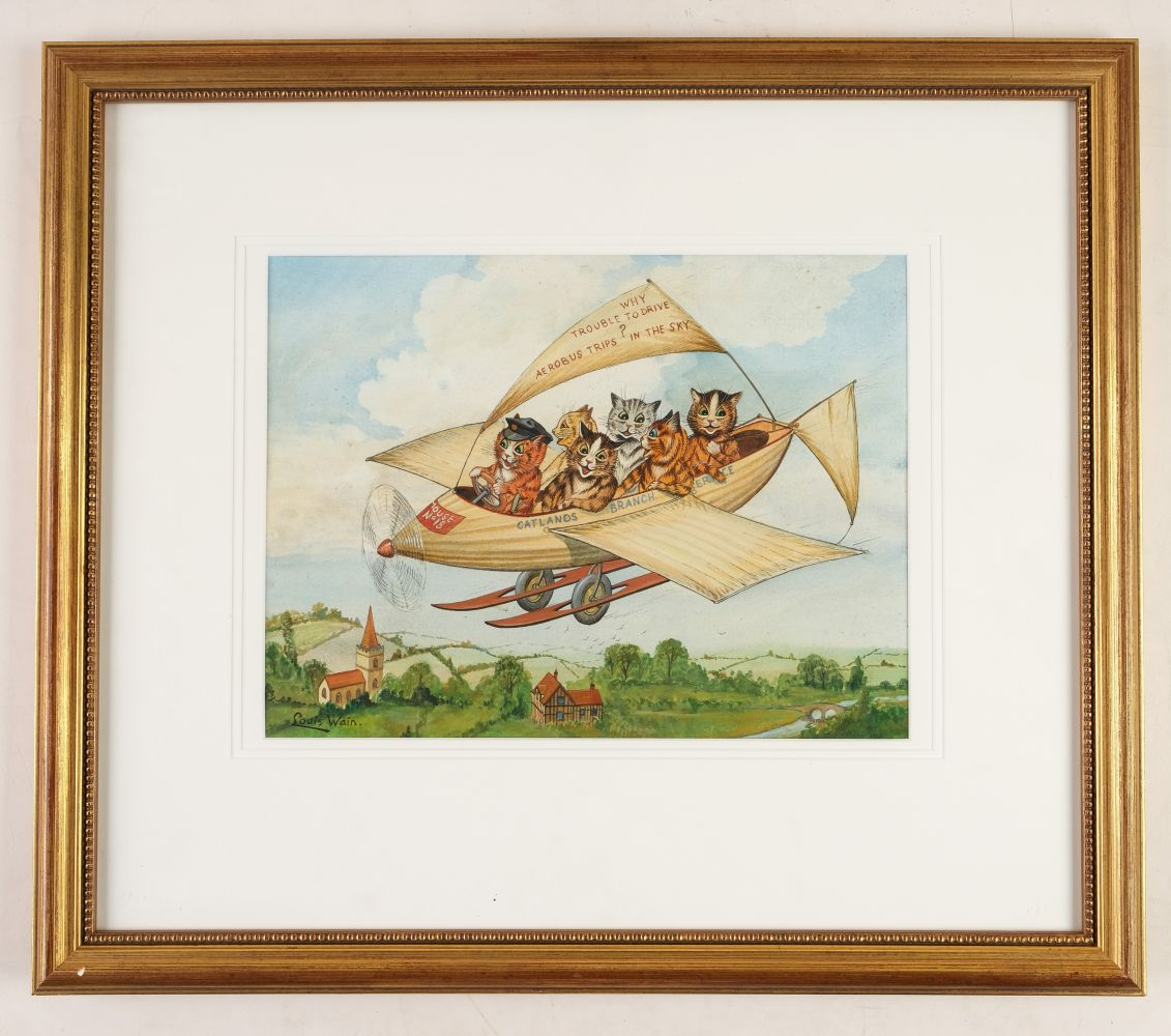 * Wain (Louis, 1860-1939). Flying Cats - Image 2 of 4