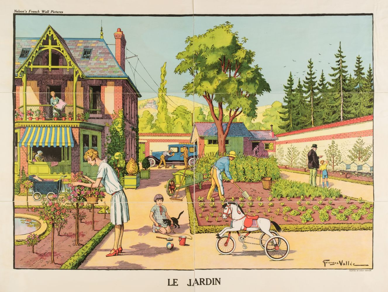 * Vallée (Georges, active 1897-1921). Le Jardin