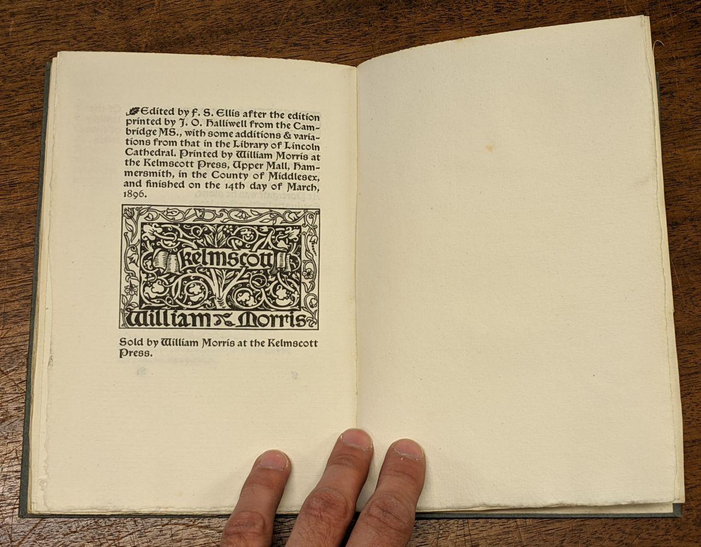 Kelmscott Press. The Romance of Sir Degrevant, 1896 - Image 8 of 8