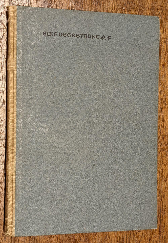 Kelmscott Press. The Romance of Sir Degrevant, 1896 - Image 2 of 8