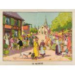 * Vallée (Georges, active 1897-1921). Le Marché