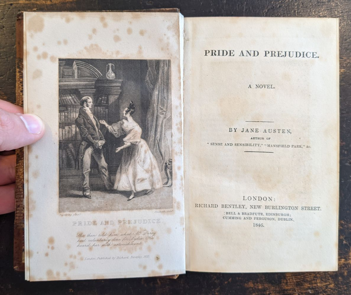 Austen (Jane). Pride and Prejudice. A Novel, London: Richard Bentley, 1846 - Image 5 of 8