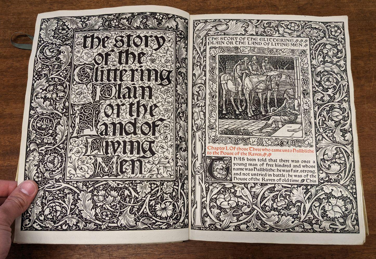 Kelmscott Press. The Story of the Glittering Plain, 1894 - Image 7 of 10