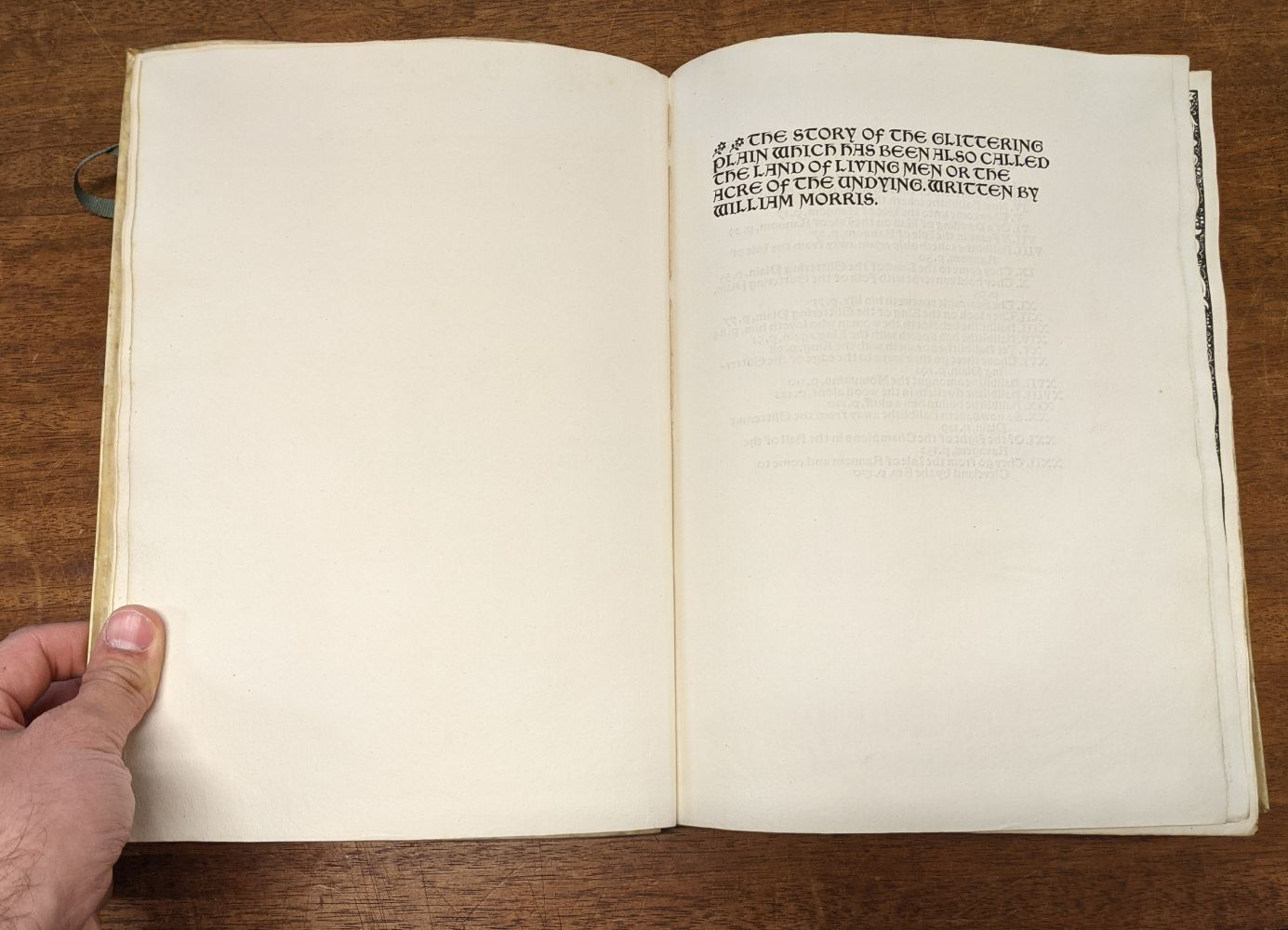 Kelmscott Press. The Story of the Glittering Plain, 1894 - Image 6 of 10
