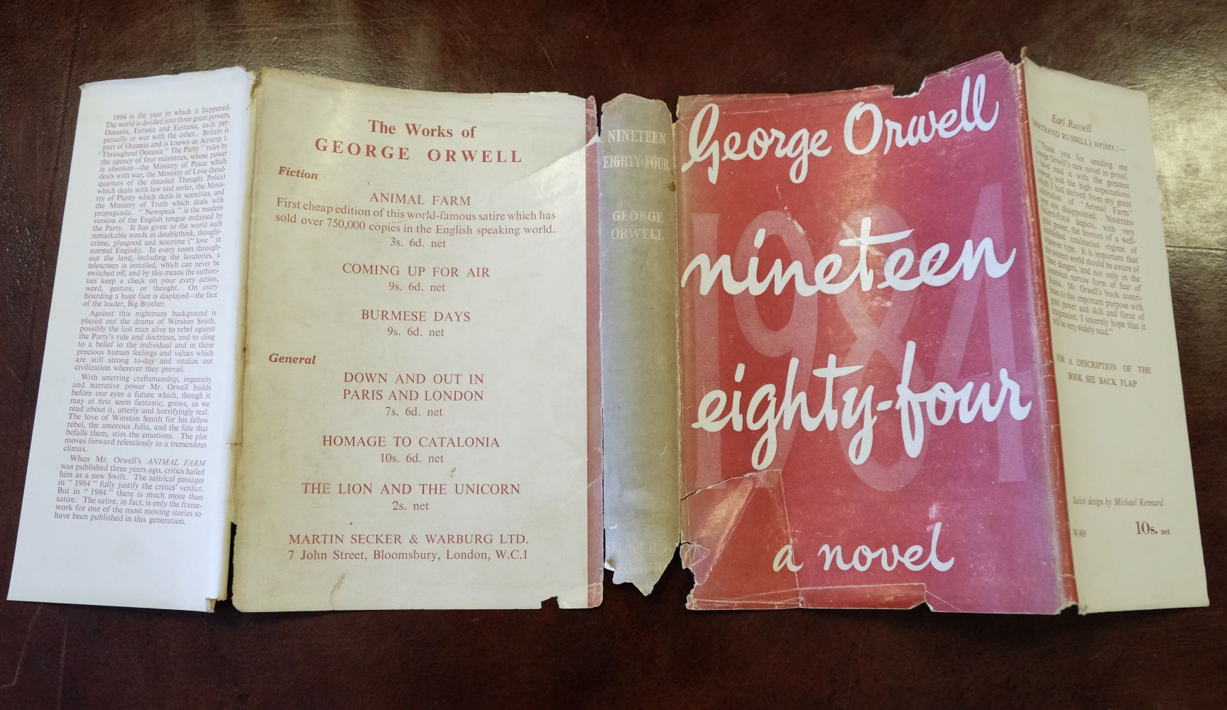 Orwell (George). Nineteen Eight-Four, 1st edition, 1949 - Image 2 of 9