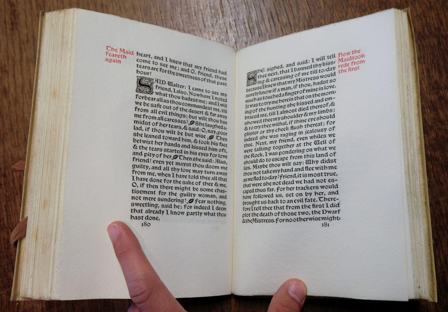 Kelmscott Press. The Wood Beyond the World, 1894 - Image 9 of 9