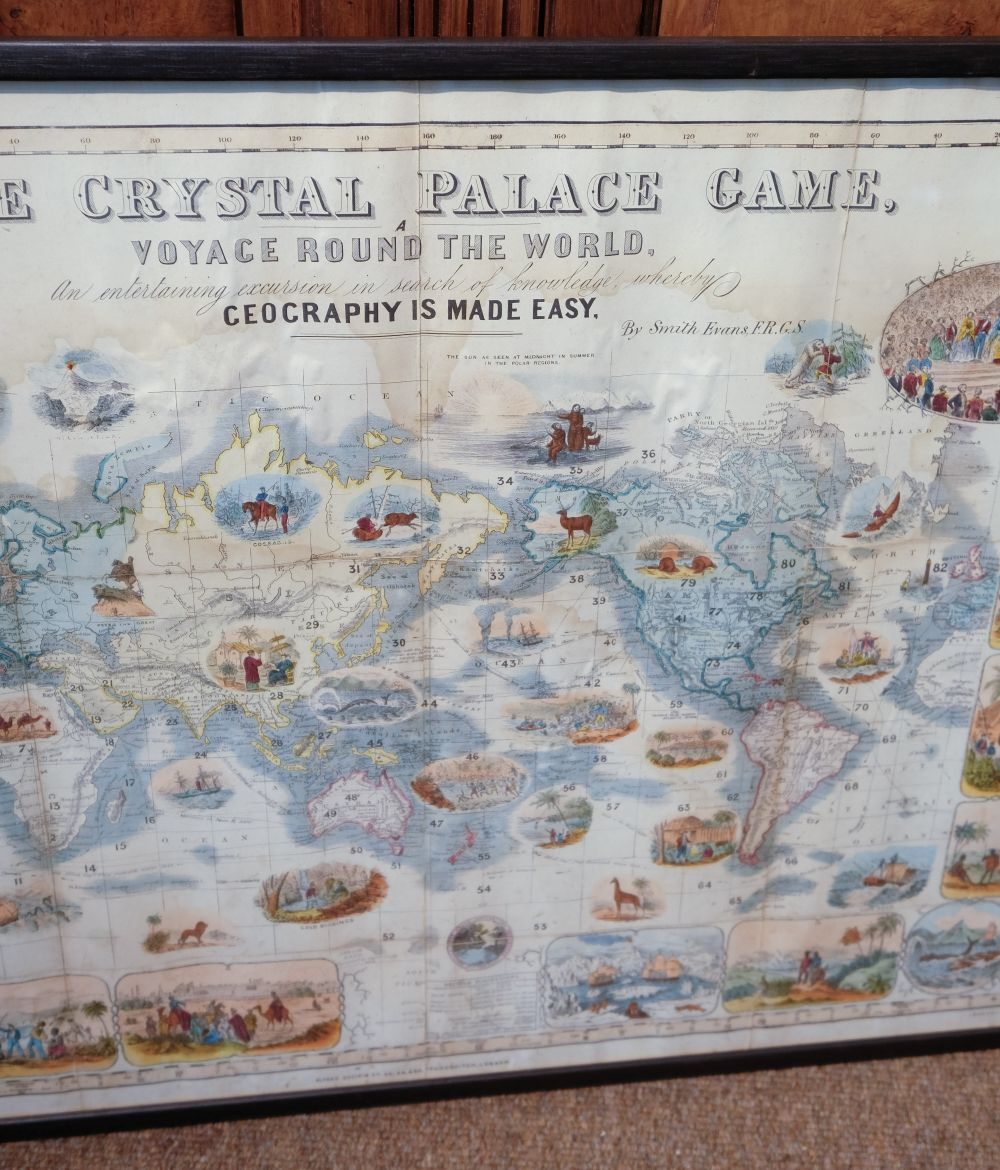 * World Map Board Game. The Crystal Palace Game, published by Alfred Davis & Co., [1855?] - Image 4 of 5