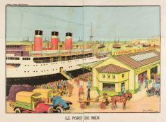 * Vallée (Georges, active 1897-1921). Le Port de Mer