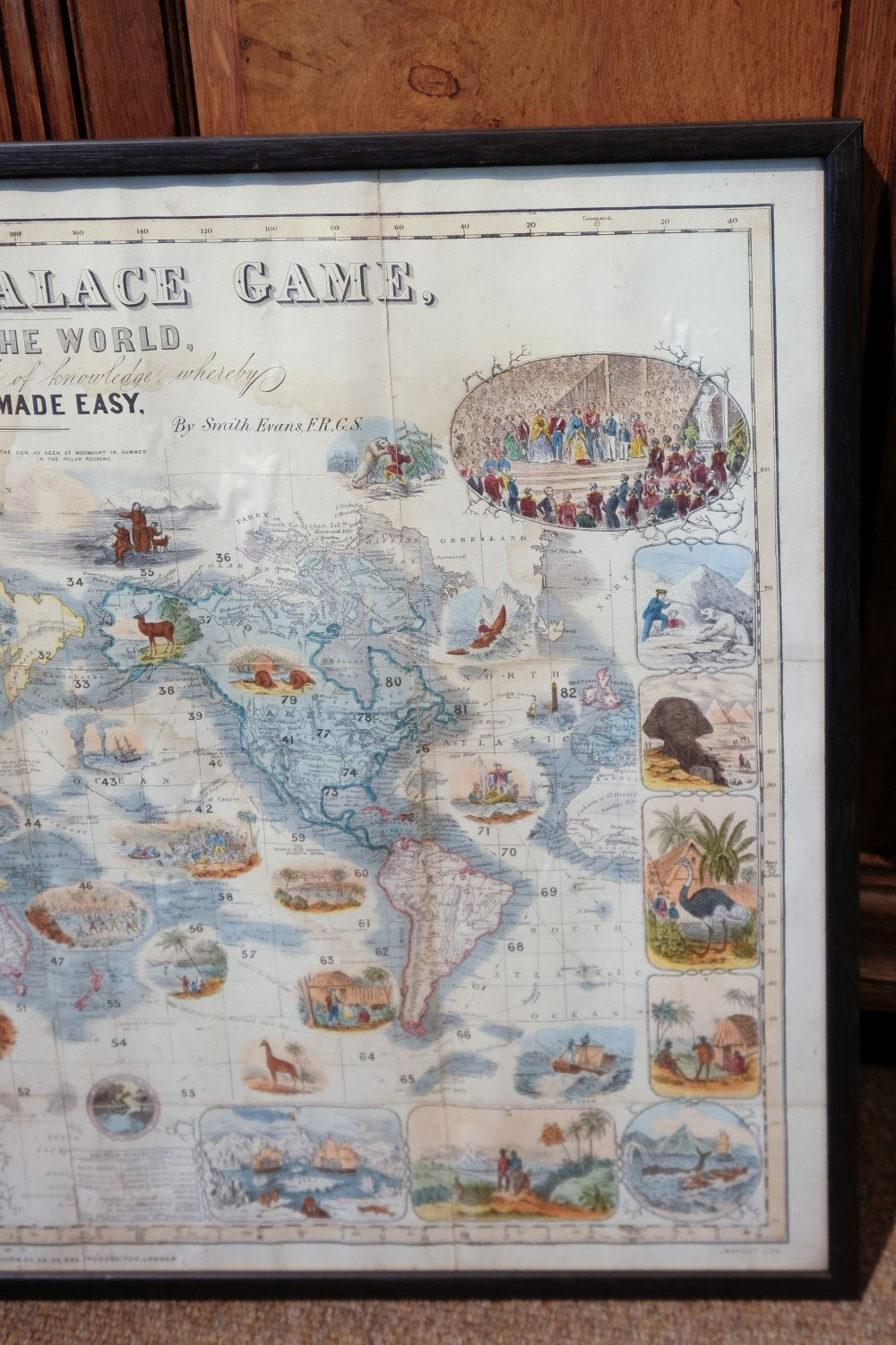 * World Map Board Game. The Crystal Palace Game, published by Alfred Davis & Co., [1855?] - Image 5 of 5
