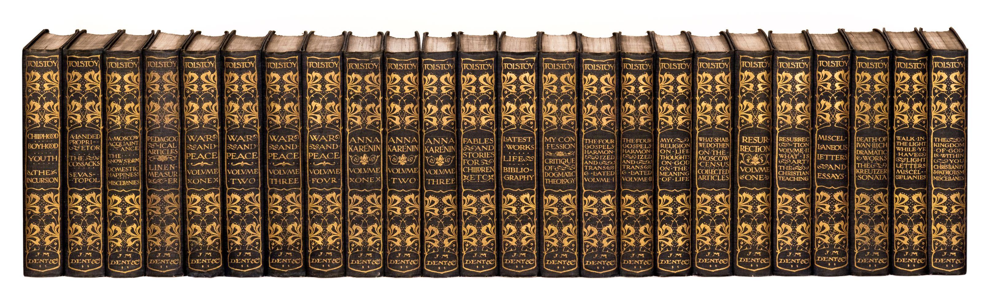 Tolstoy (Count Lev Nikolayevich). Works, 24 vols, 1904