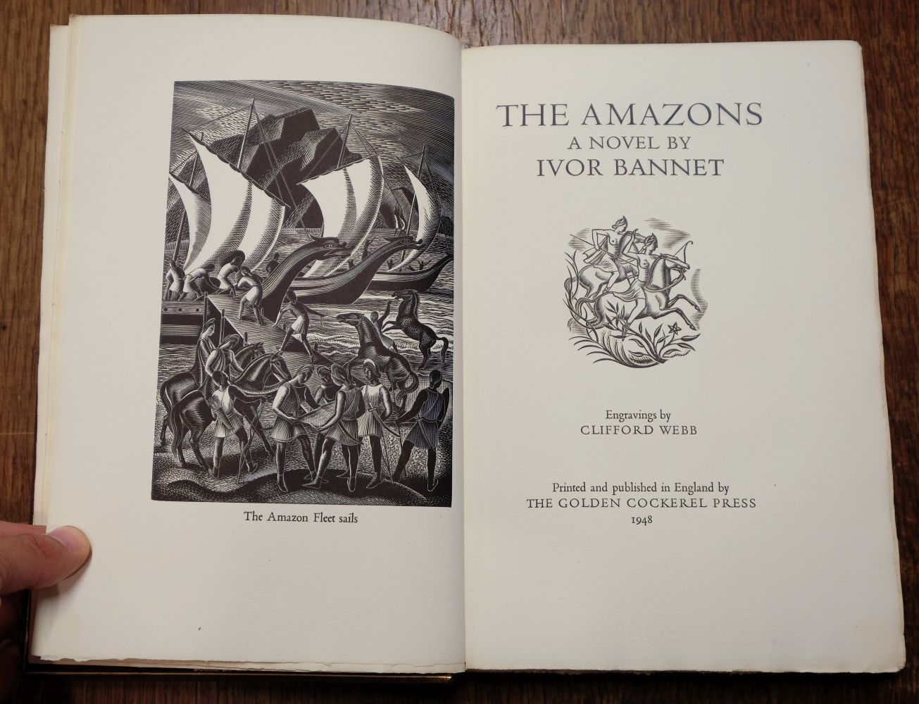 Golden Cockerel Press. The Amazons, A Novel by Ivor Bannet, 1948, signed in special binding - Image 5 of 8
