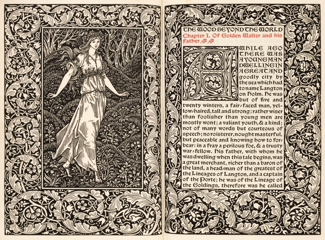 Kelmscott Press. The Wood Beyond the World, 1894