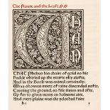 Kelmscott Press. The Floure and the Leafe, 1896