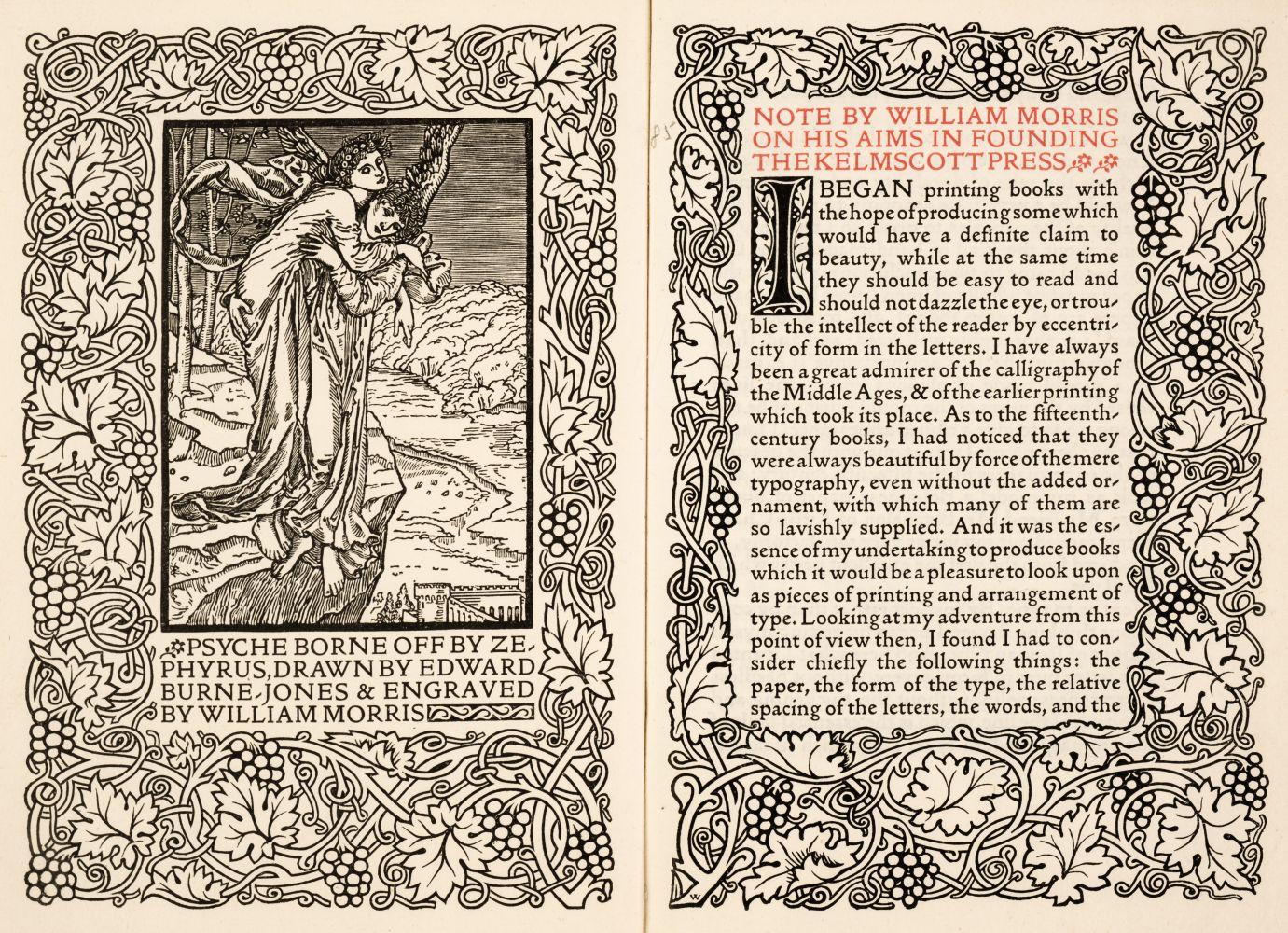 Kelmscott Press. Notes by William Morris, 1898