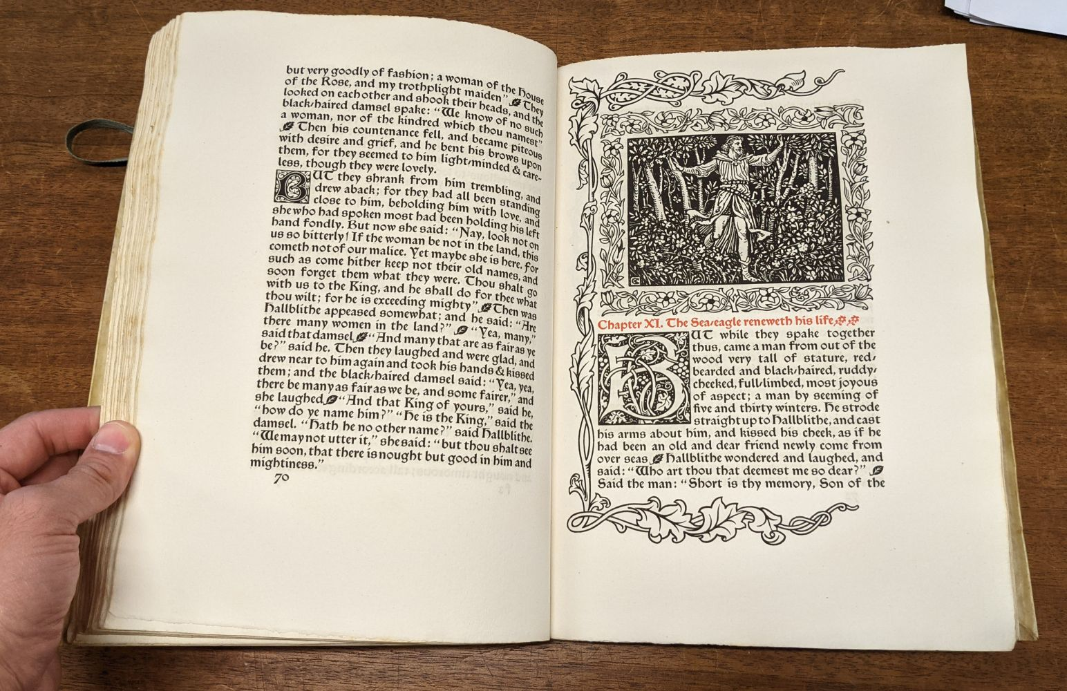 Kelmscott Press. The Story of the Glittering Plain, 1894 - Image 8 of 10