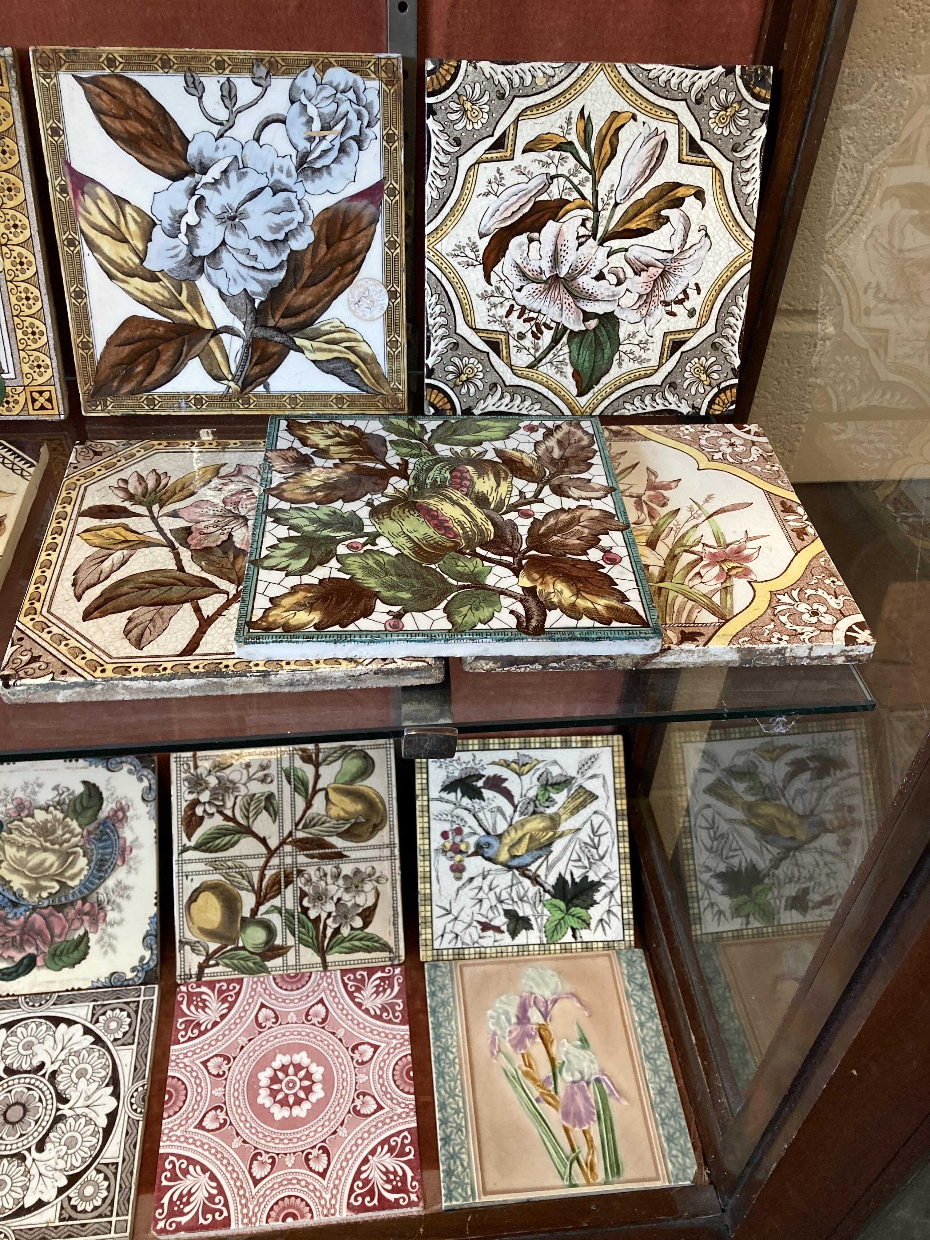 * Tiles. Mixed collection of Victorian pottery tiles - Image 6 of 6