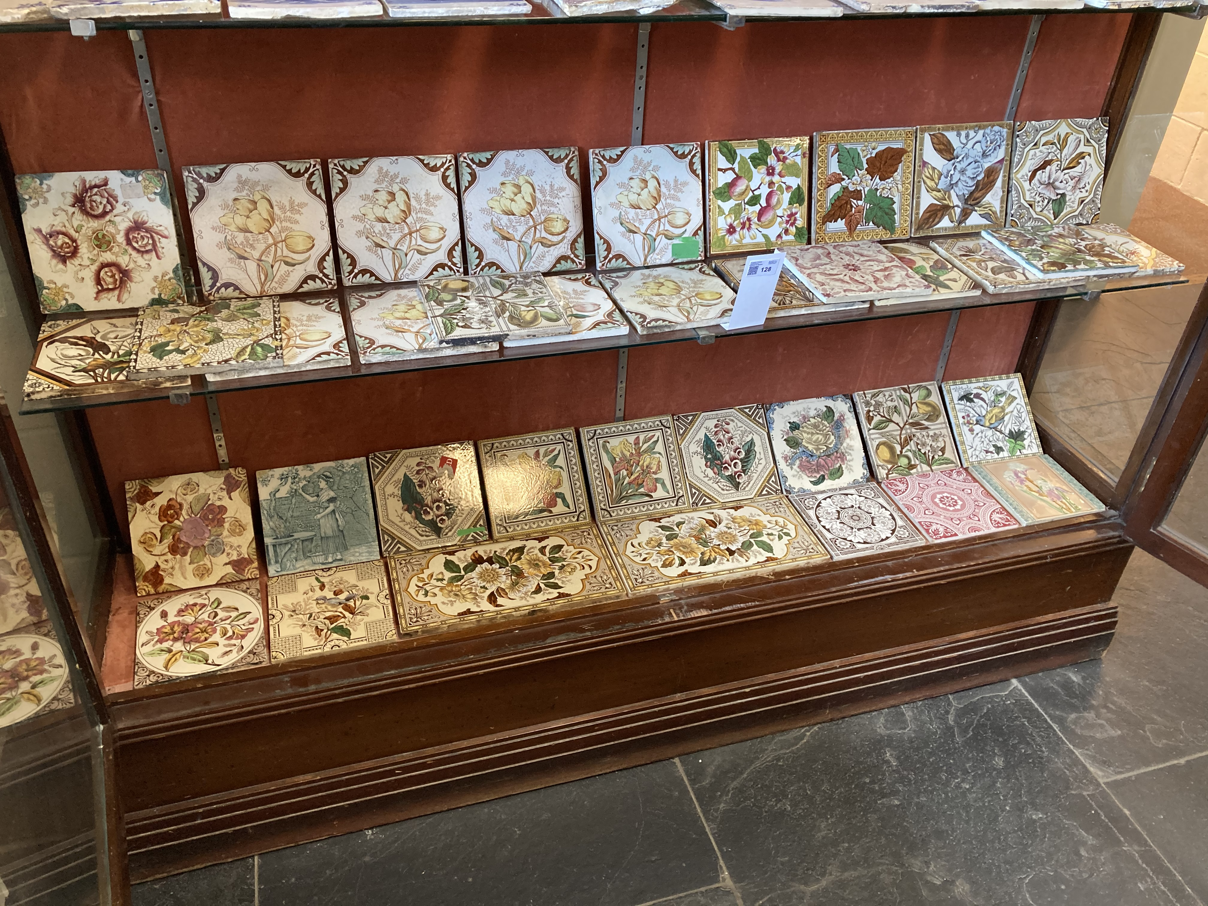 * Tiles. Mixed collection of Victorian pottery tiles - Image 2 of 6