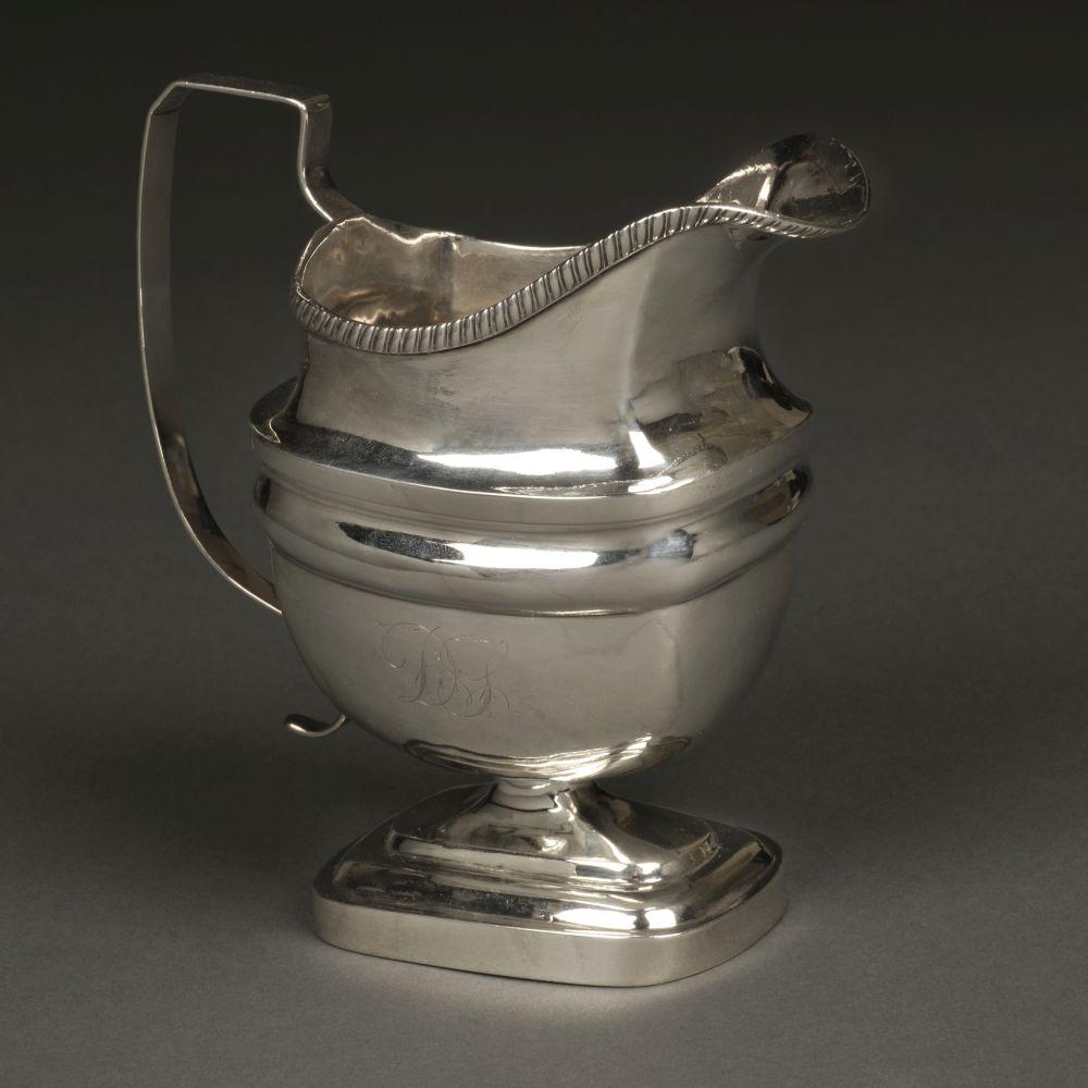 * American Silver. Milk jug by John Owen, Philadelphia circa 1805