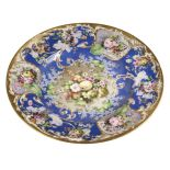 * Charger, Continental porcelain floral charger