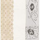 * Art Nouveau. A large banqueting cloth, circa 1900