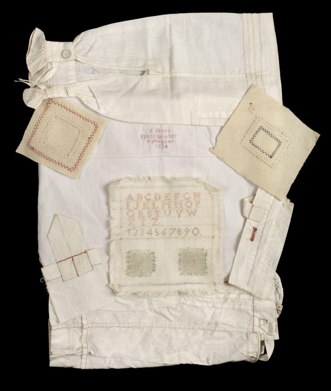 * Needlework. Specimens of juvenile handiwork, 19th-early 20th century