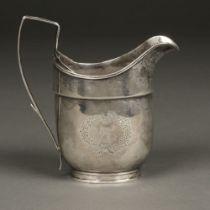 * American Silver. Silver milk jug by Robert Evans, Boston circa 1800