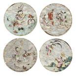 * Chinese Panels. 18th-century porcelain panels