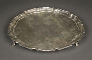 * Salver. George V silver salver by Mappin & Webb, London 1917