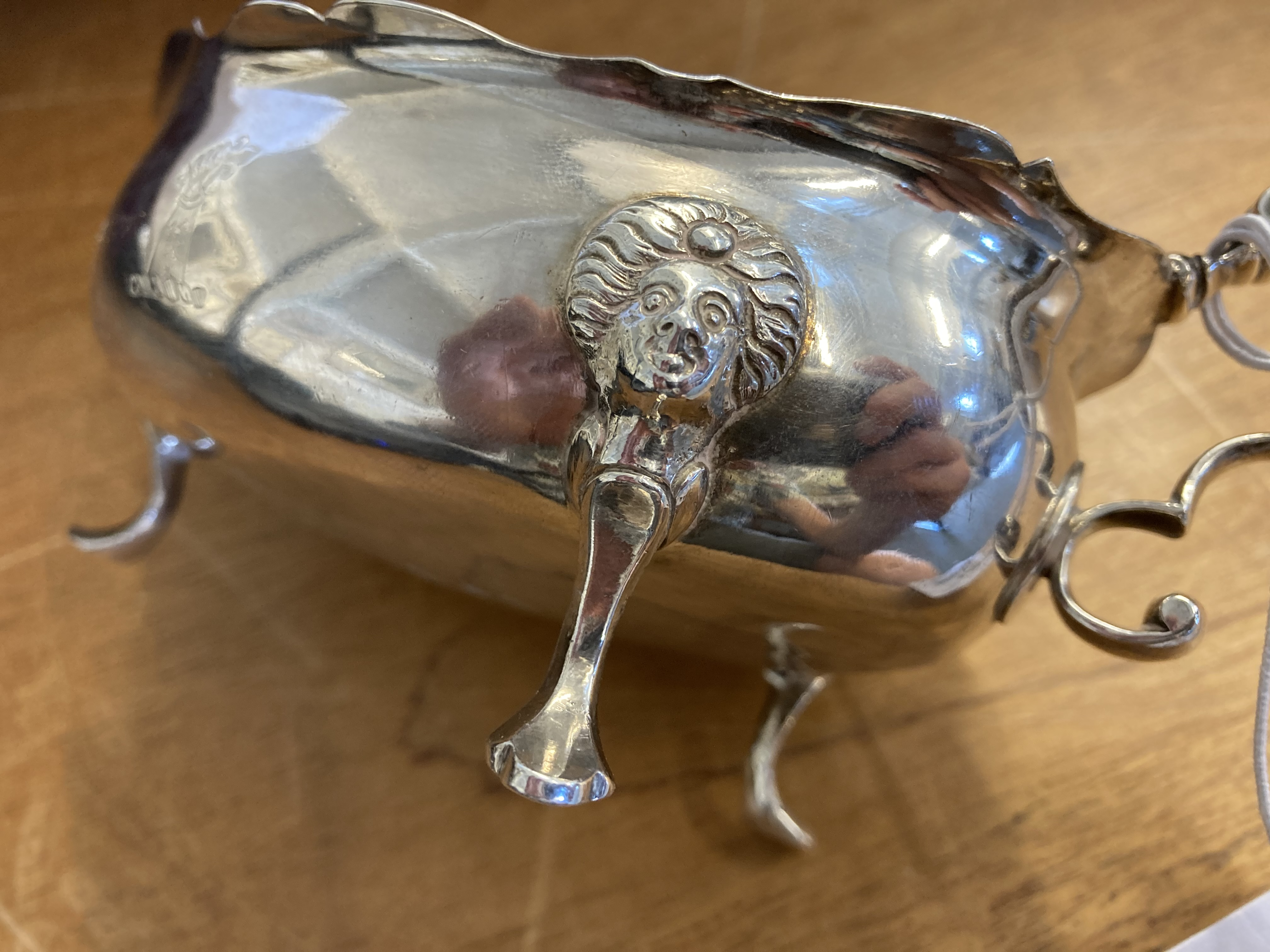 * Silver Sauce Boat, 18th century - Image 6 of 6